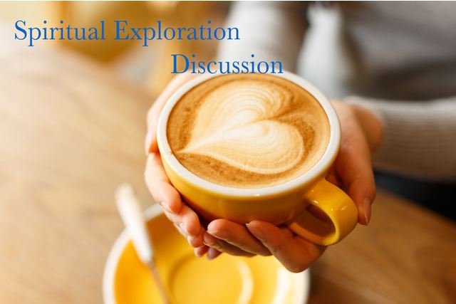 Spiritual Exploration Discussion-coffee cup w heart